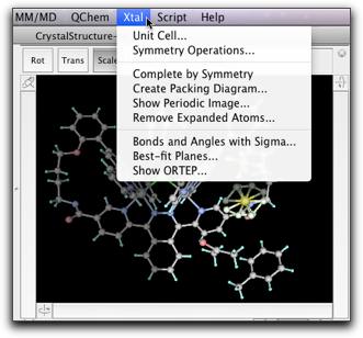 Step Ten: Working with Crystal Structures